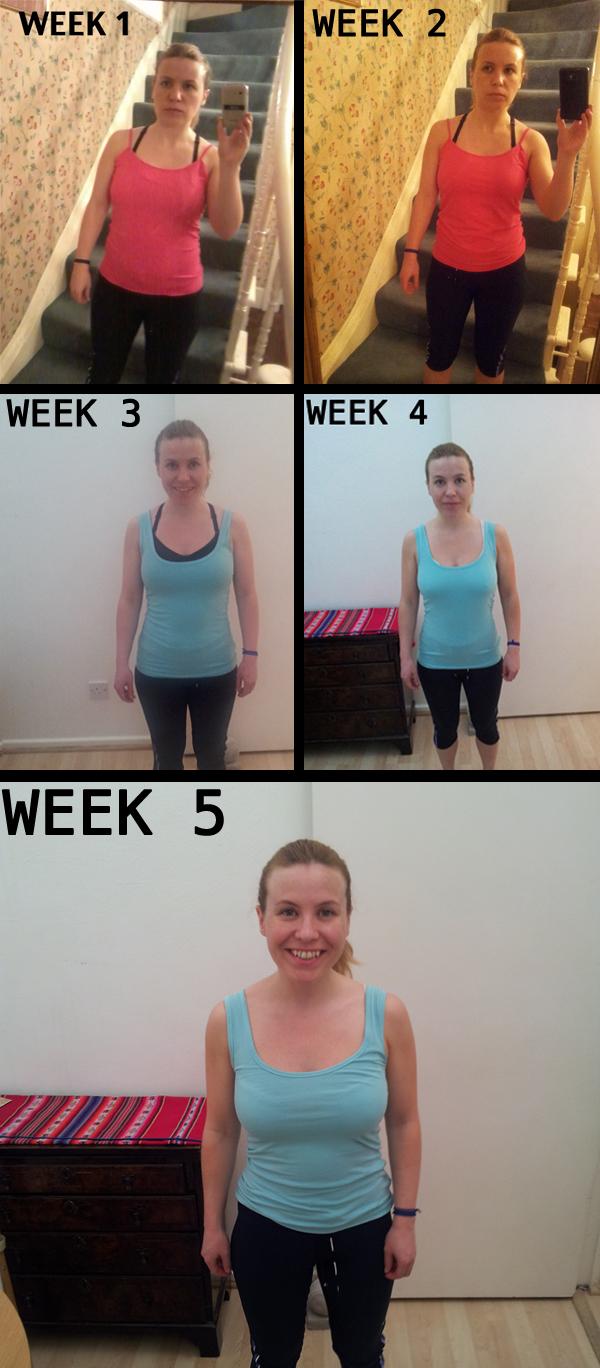 weeks 1 to 5