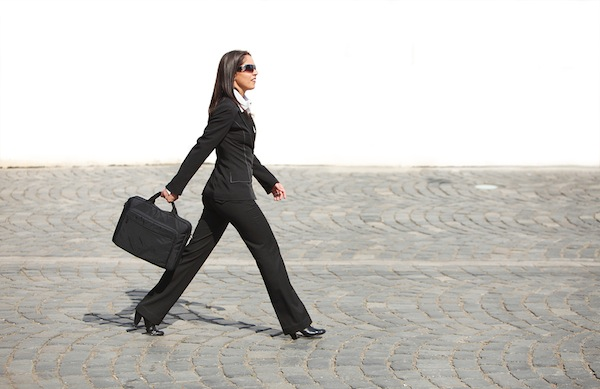 Image result for woman walking to work