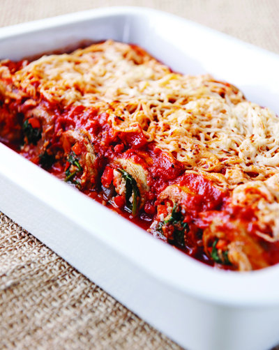 ... HEALTHY? Eggplant Cannelloni with Pine Nut Romesco Sauce - Healthista