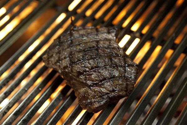 34 Rib eye on grill