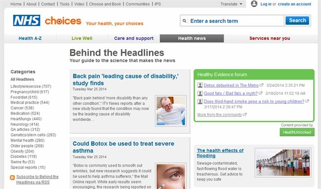 NHS headlines