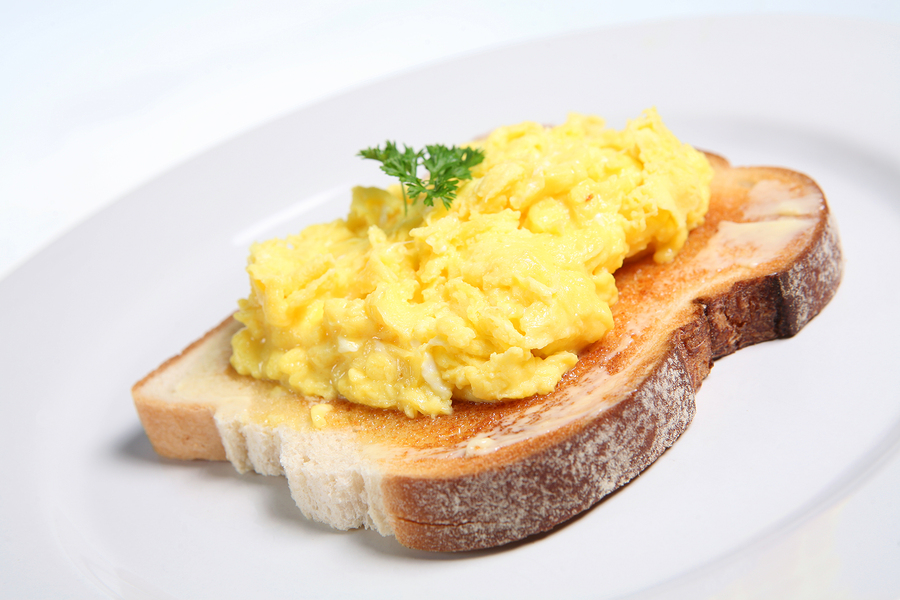 Scrambled Egg Toast Recipe — Dishmaps