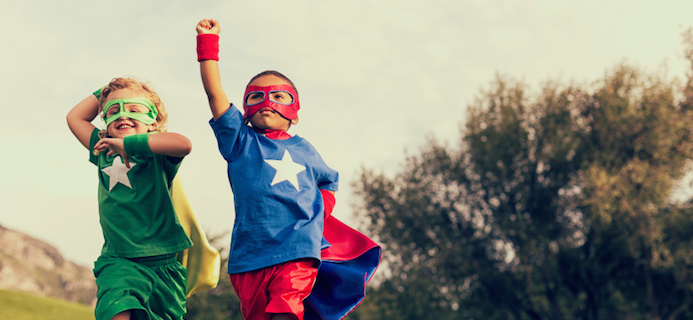 kids in superhero clothes, 8 steps to achieving your goals by Healthista.com
