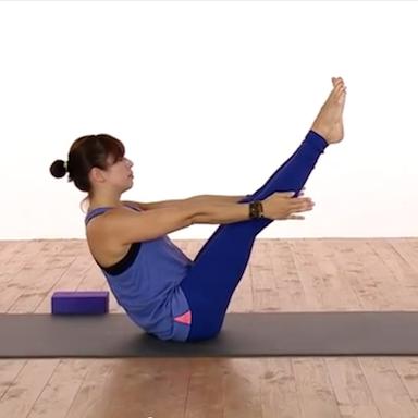 Genny yoga, Yoga for a flat tummy by Healthista.com