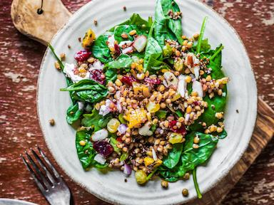 Healthy salad with spinach, 8 best vegan cookbooks, by Healthista.com