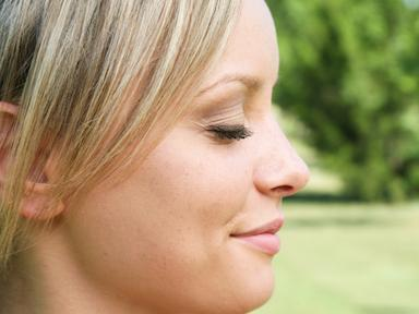 woman profile eyes closed, How to meditate for beginners - week 3 by Healthista.com