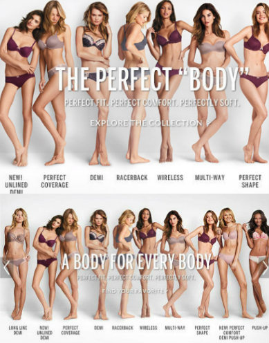 Vicotria's secret advert before and after, Why 2015 is the year to love your body, by Healthista.com
