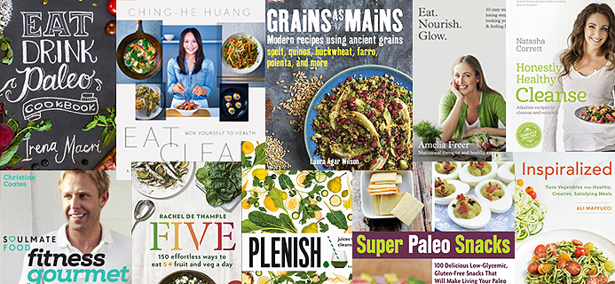 collage of cookbooks, best healthy cookbooks of the year by healthista.com