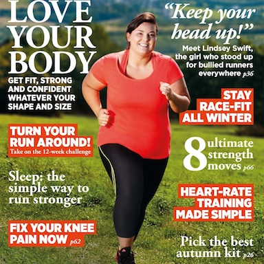Women's Running magazine November cover, fat fit women, by healthista.com FEATURED