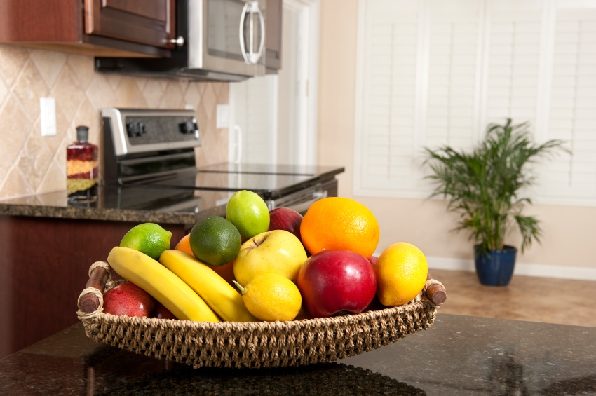 Attractive Fruit Bowl On Kitchen Counter, Is Your Kitchen Making You Fat, By  Healthista.