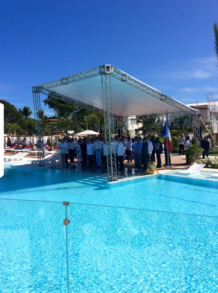 dominican republic president opening the punta cana resort