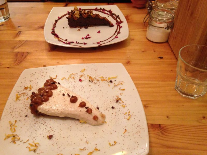 Banoffee pie and the raw chocolate brownie raw seeded crackers by Wildfood Cafe raw, vegan restaurant by Healthista