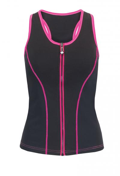 stae fit PINK PIPING Top best gym wear by Healthista