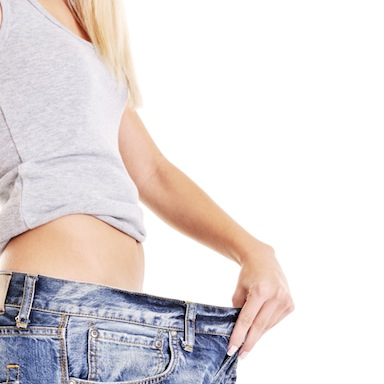 Woman with jeans too big for her, 7 ways to lose weight, by healthista