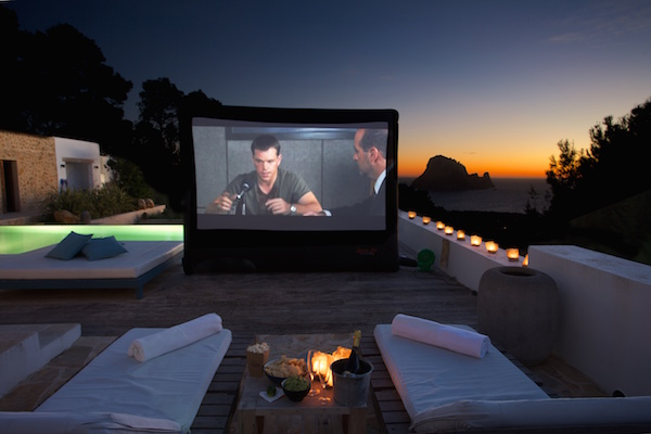 Private Cinema with Es Vedra in the background