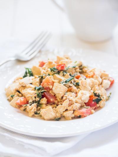 Tofu scrambled egg luxury holiday chic ibiza villa by healthista