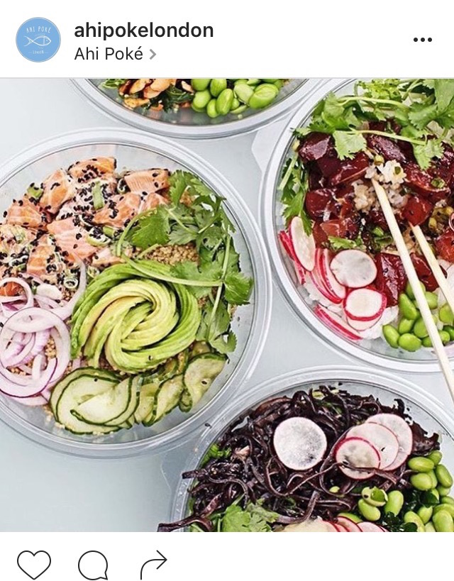 Ahi Poke bowls, best healthy restaurants in London, by healthista.com