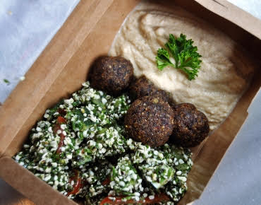 Falafel box, Best healthy restaurants in London, by healthista.com
