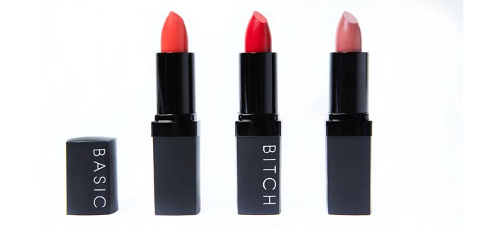 Lucy Watson Basic Bitch lipsticks, animal cruelty free, by healthista.com2