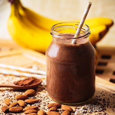 60 second smoothie - best smoothie for weight loss- day 11 chocolate nut