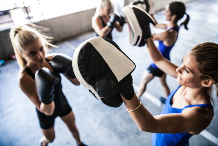 pad work women, Boxing boutiques the biggest fitness trend for women right now by healthista