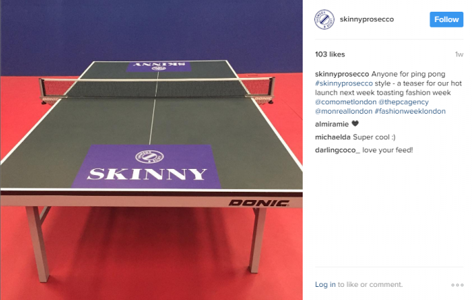 table tennis, champagne that makes you skinny by healthista.com