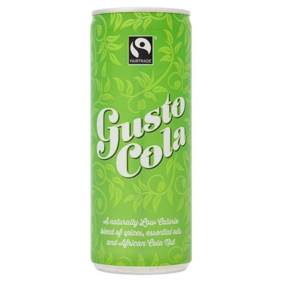 Gusto Cola, best fairtrade foods, by healthista.com