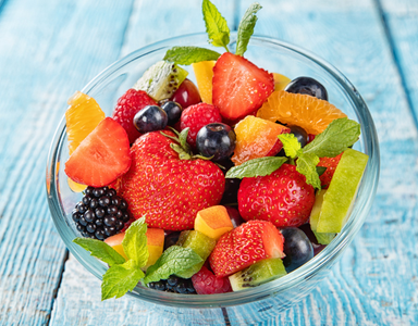 fruit salad, what to eat for ageing skin by healthista.com