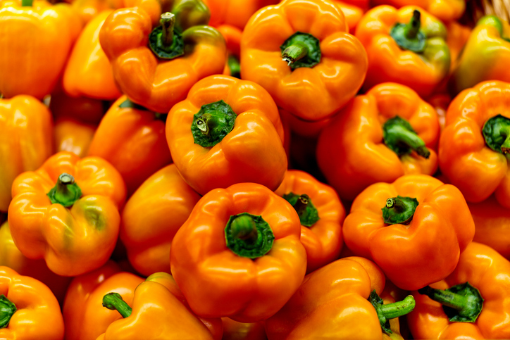 orange bell peppers What to eat for a healthy smile Healthista