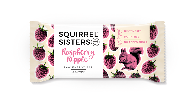 raspberry ripple, WE LOVE squirrel sisters raw snack bars by healthista