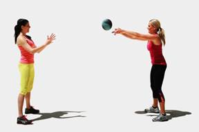 Throw Catch With Medicine Ball