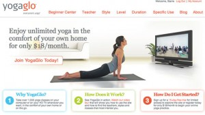 yogaglo screen