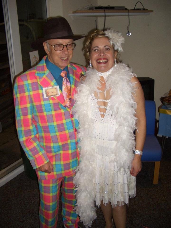 Jo with Dad at Gav's 40th fancy dress