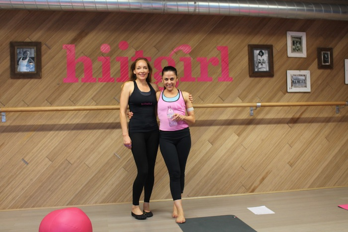 Founder Susan Dyson and editor Anna Magee who recently got put through her paces at the Hiitgirl studios
