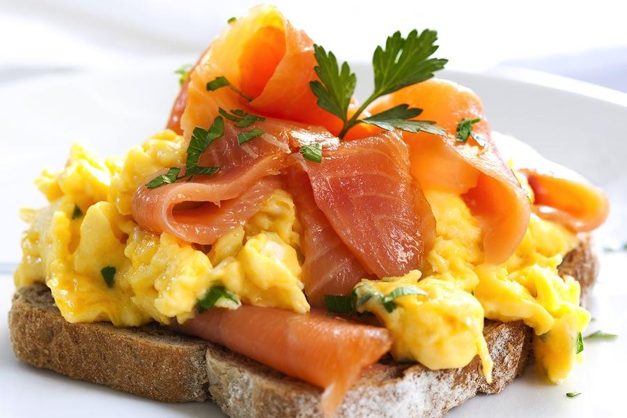 bigstock-Scrambled-eggs-with-smoked-sal-14356253