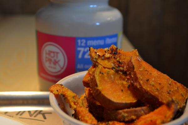 Hot PInk's sweet potato wedges