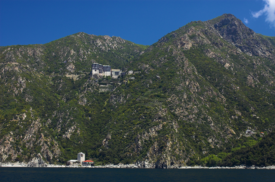 Mount Athos in Greece is home to 20 Eastern Orthodox monasteries.