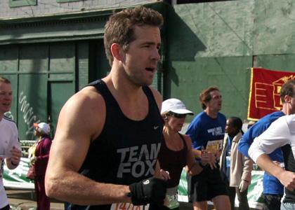 Ryan Reynolds running the New York Marathon