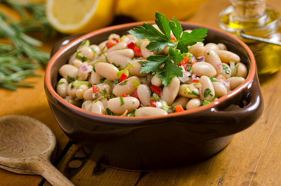 White Bean Salad with Spring Onions and Parsley