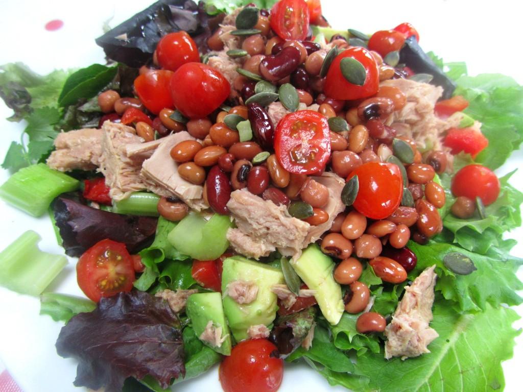 tuna and mixed bean salad