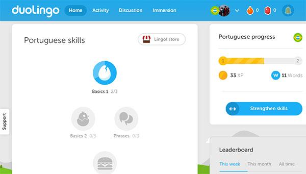 Duolingo  Home copy