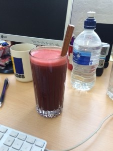 That'll be lunch sorted.oday's beet, carrot, kale, ginger, lemon, pear and apple creation