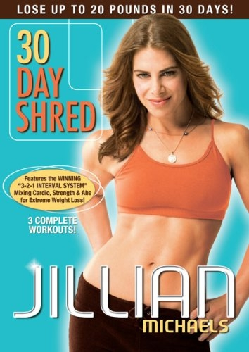 best workout DVDs, Jillian Michaels 30 day shred by Healthista.com