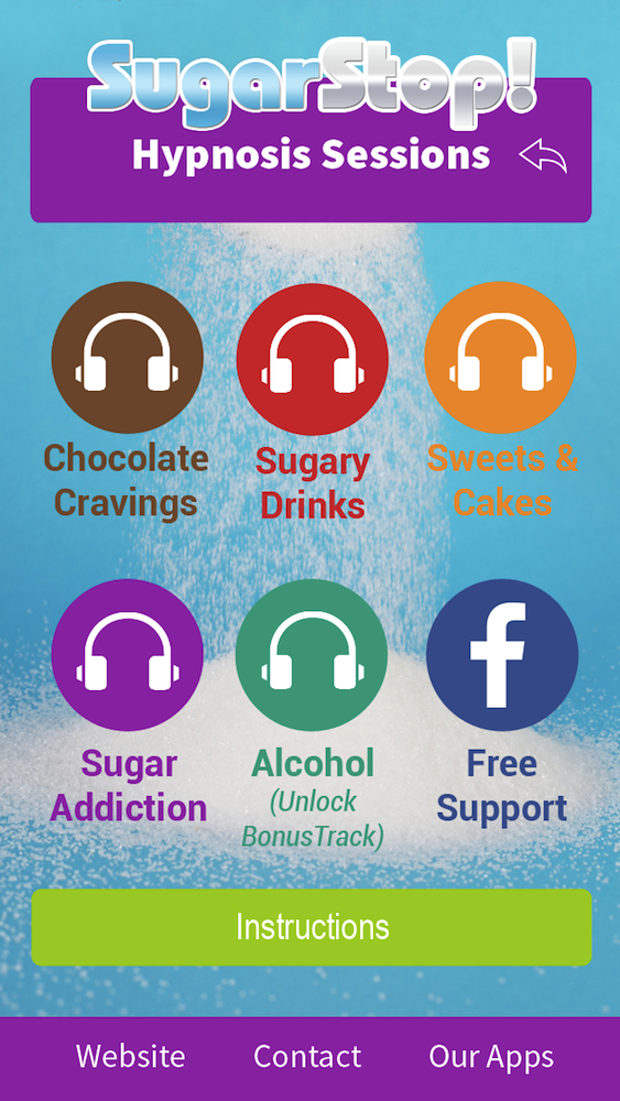 SugarStop App Hypnosis sessions, 5 tips to stay on the sugar free bandwagon, by Healthista.com