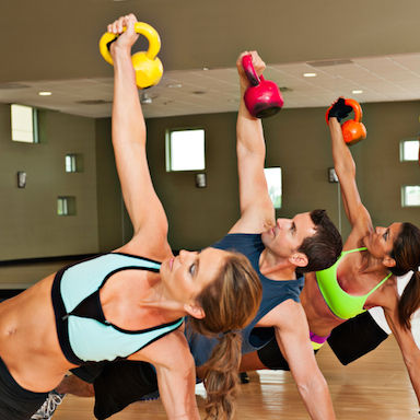 women with kettlebells, workouts for women, by healthista.com featured