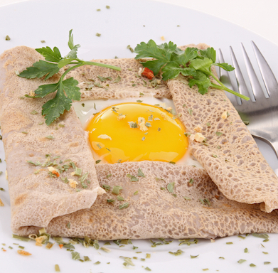 Galette with egg, Find out the best place to eat gluten-free French crepes, by Healthista.com