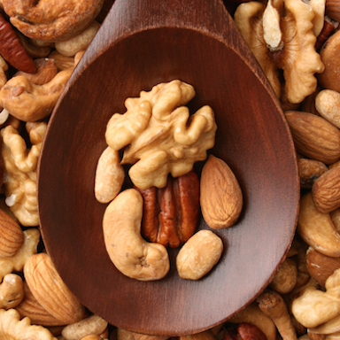 Nuts on a spoon, by Healthista.com