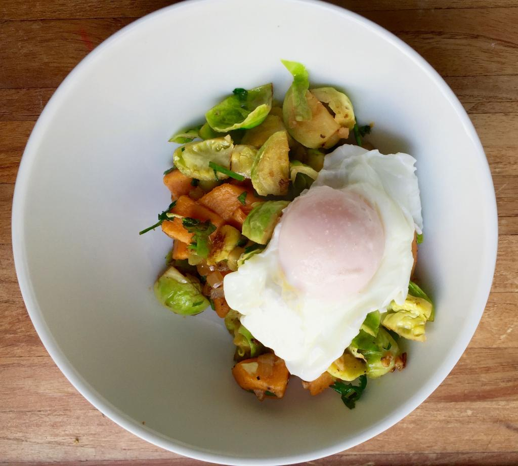 brussel-sprouts-sweet-potato-hash-paleo-breakfast-by-healthista.com