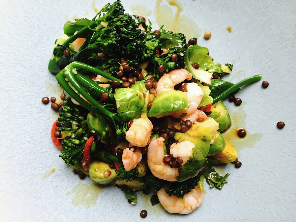 Prawn, broccoli and sprout stirfry, 5 healthy dishes under a fiver, by Healthista.com