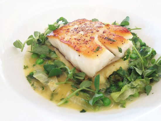 Rivington Grill cod with lovage and peas, Best healthy restaurants in London - Healthista Eats blogger Charlotte Dormon brings you her favourites this week, by Healthista.com